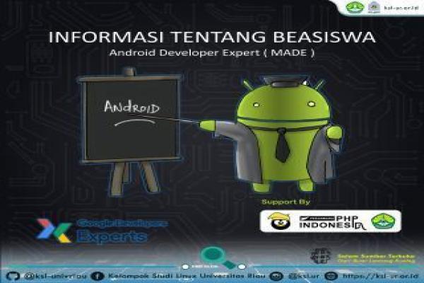 Informasi kelanjutan Beasiswa Menjadi Android Developer Expert (MADE)