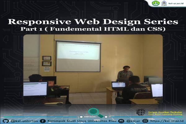 Telah berlangsung sharing tentang Web Design Series