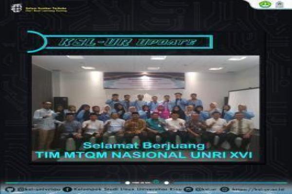 Kafilah Utusan UNRI mengikuti perlombaan Desain Aplikasi Al-Quran(DAQ) pada MTQ Mahasiswa Nasional XVI di Universitas Syiah Kuala Aceh